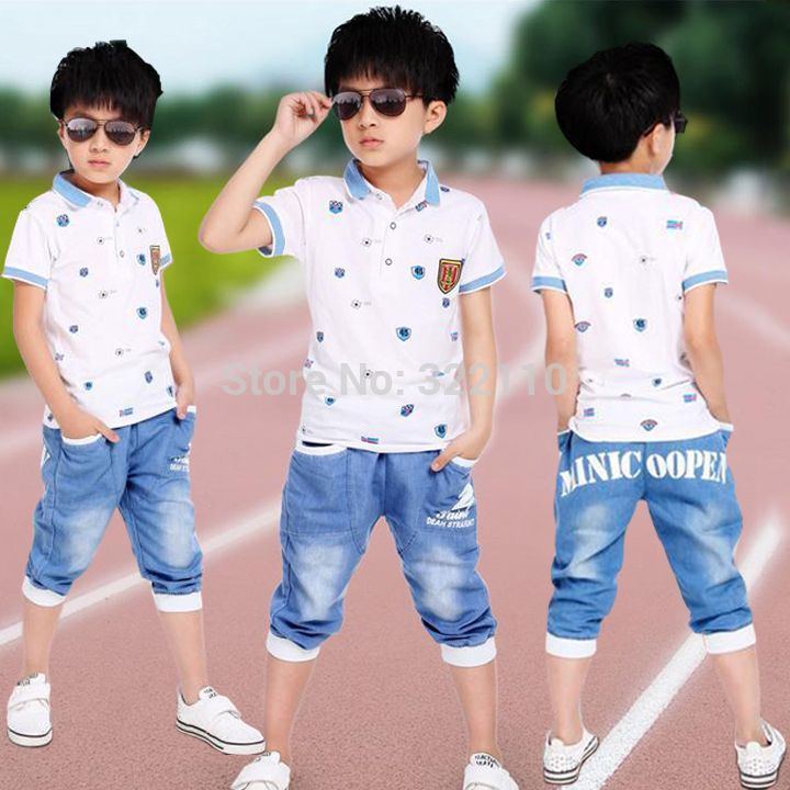 Baby boys Summer Clothing sets 2pcs set Polo shirt+Jeans Kids Sport suits Children Cotton Tracksuits Casual clothes Outfit #Affiliate