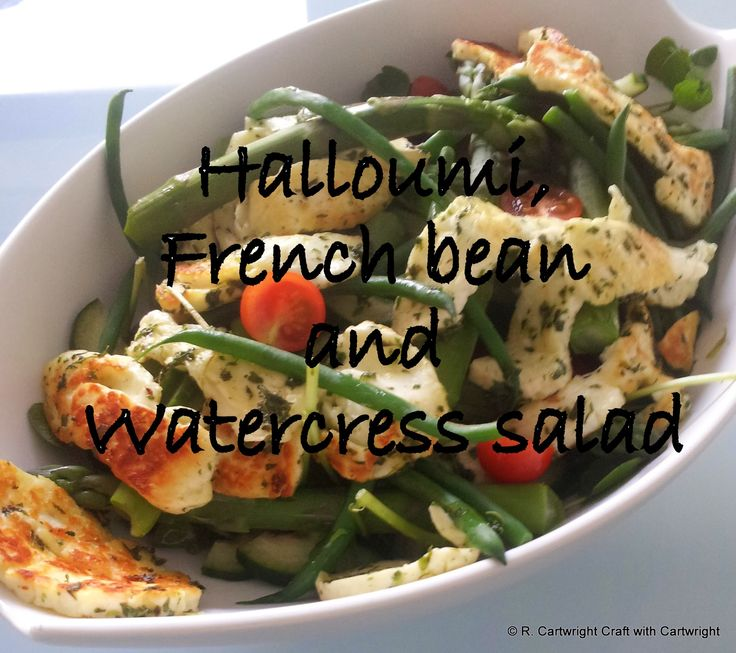 Craft with Ruth Cartwright: Halloumi french bean and watercress salad recipe