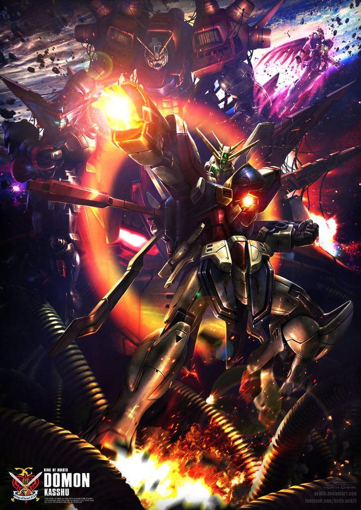 King of Hearts ( Mobile Fighter G Gundam ) Fan Art by Xeikth.deviantart.com on @DeviantArt