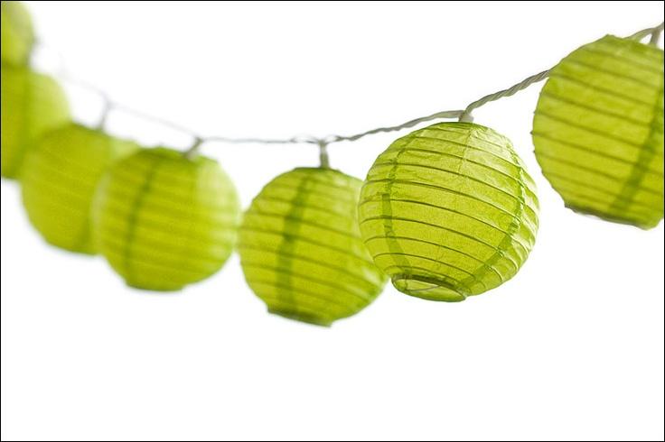 Lime green Japanese Lanterns - Photo by Jason