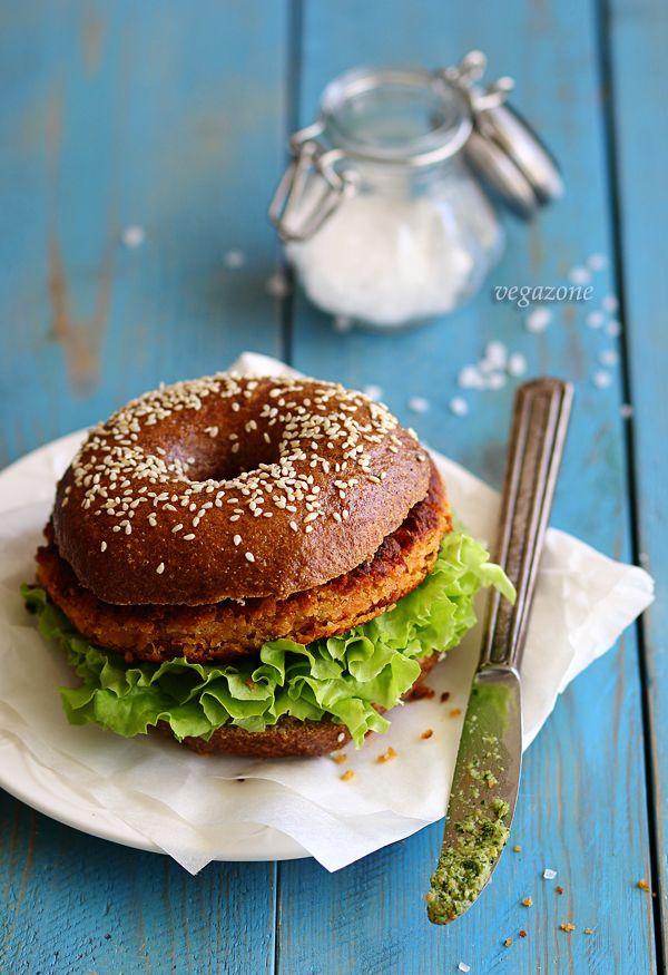wegetariański burger przepis