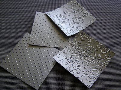 Lots of cuttlebug embossing idea