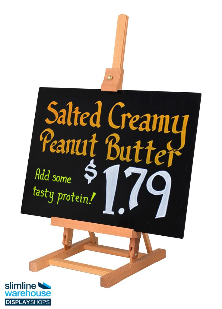 Blackboard Easel Perfect for Kids or Business! A blackboard easel includes everything you need to start creating attractive advertising at your business, whether a bakery, retail store, cafe, restaurant, bar, or news agent. The wood easels with chalkboard use 3mm thick black acrylic that is A2 (420 x 594mm) sized, offering heaps of space for placing your messages. The black acrylic can have messages easily wiped on or off, making changes easy. The versatile black board may be placed in…