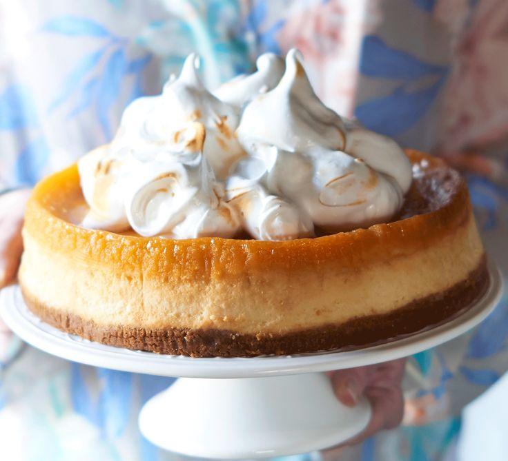 Lemon meringue cheesecake: Serve a slice of this sweet treat and find yourself in double dessert heaven - lemon meringue pie meets creamy citrus cheesecake
