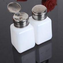 2 unids/lote Alcohol / Solder Flux líquido botella prensa bombeo Dispenser Bottle Cleaner color blanco envío gratis(China (Mainland))