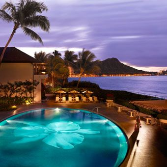 Brides: Hawaii's Hottest Hotels for Honeymooners   Honeymoons   Brides.com  - 7. Halekulani    This 453-room Waikiki Beach resort has just come off a top-to-bottom makeover, with freshened-up suites. Don't miss the nightly hula show at legendary House Without A Key, timed just so with sunset.