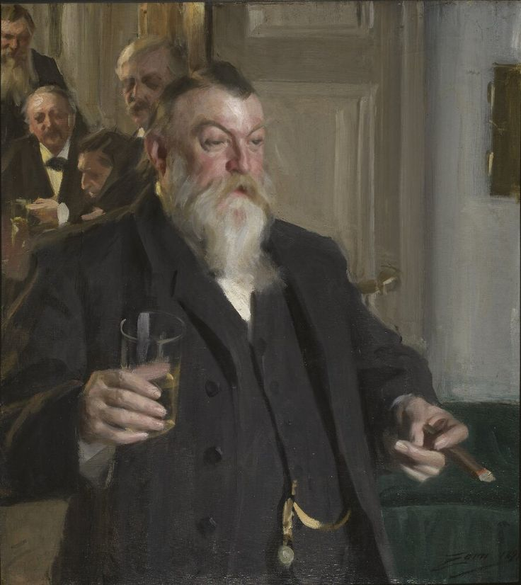 A Toast in the Idun Society | Anders Zorn | 1892 | Nationalmuseum, Sweden | Public Domain Marked