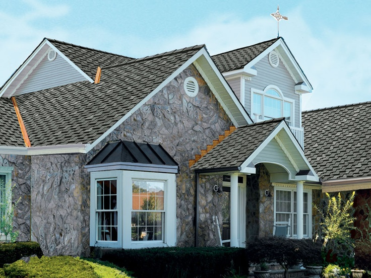 Storm Cloud Gray Gaf Designer Roof Shingles Home