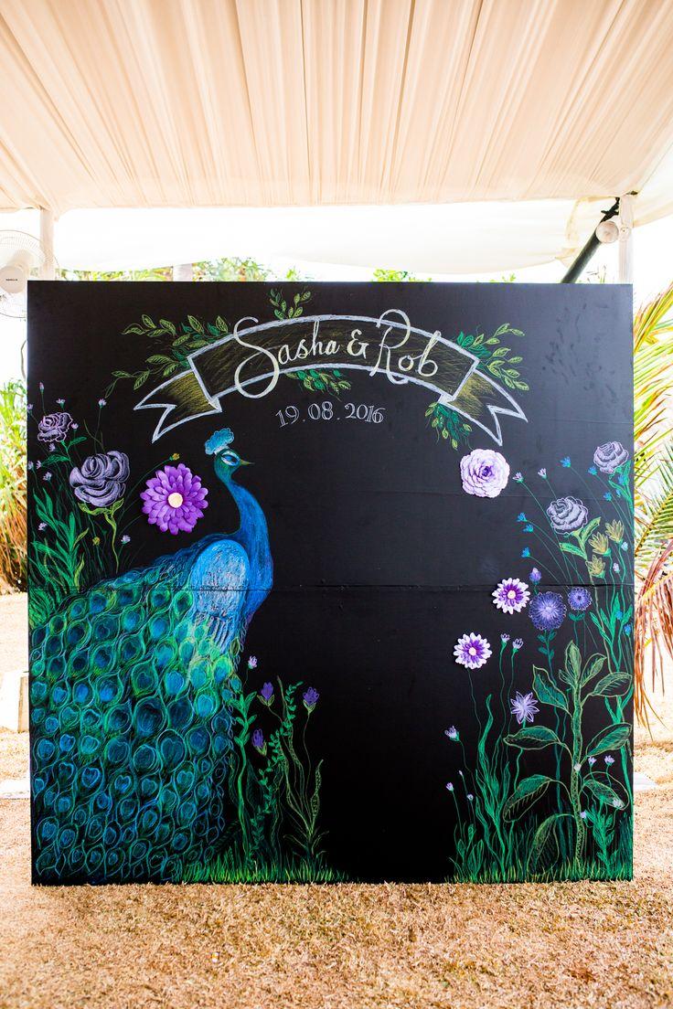 Peacock Theme Photo Booth Backdrop