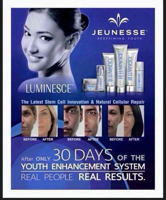 LUMINESCE - look young again.. in only a few months. Order your package now : www.cghb.jeunesseglobal.com