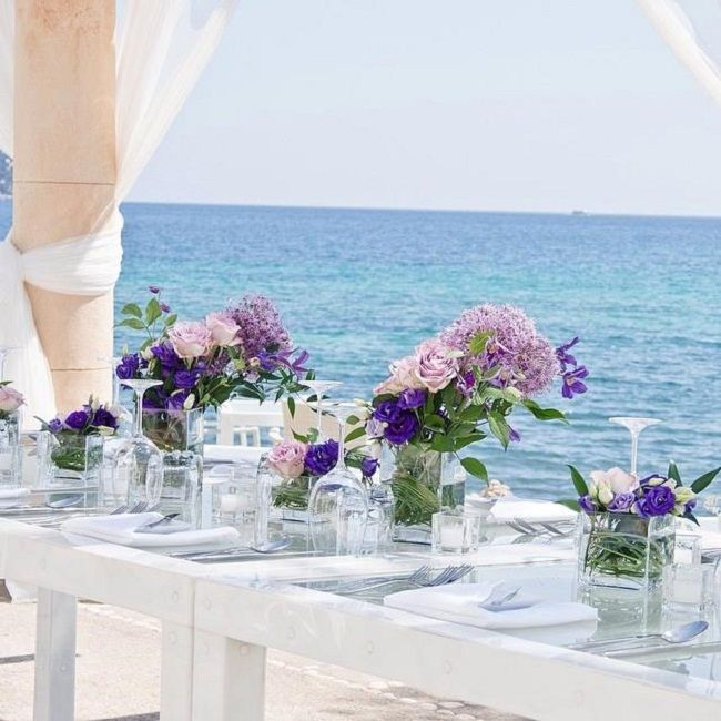 Look at this beachside #WeddingTheme - it's beautiful enough to be #Busselton! Call us for our marquee hire prices