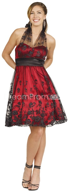 This is cute!: Dresses Apparel, Mesh Overlays, Neck Shorts, Plays Dresses, Bridesmaid Dresses, Shorts Prom Dresses, Occa Dresses, Black Lace Dresses, Halter Neck