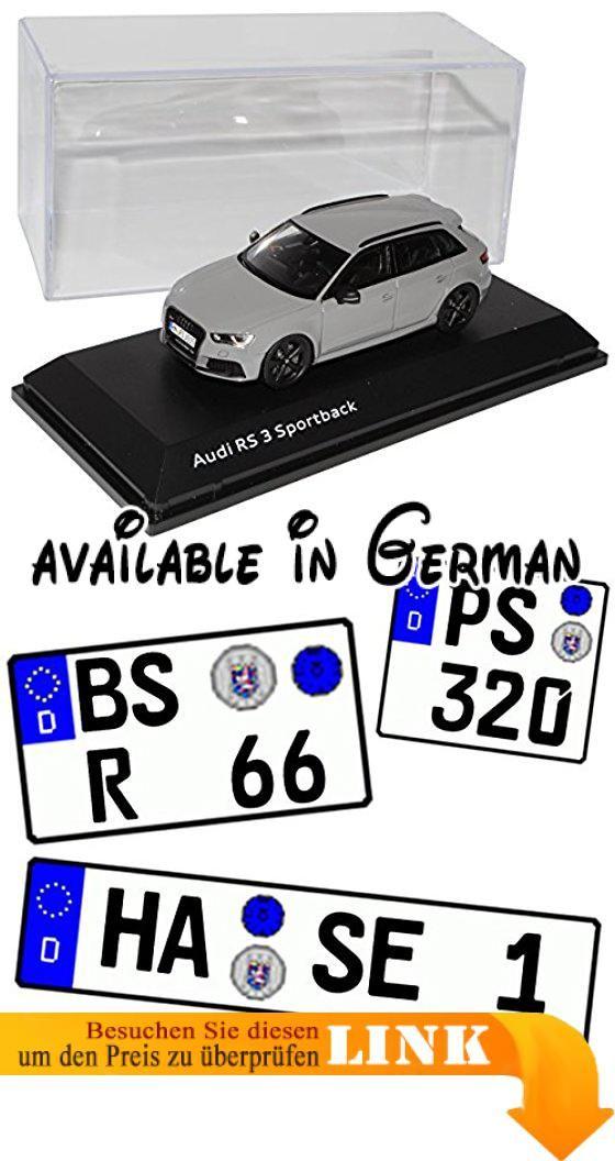 Audi A3 8V RS3 Sportback 5 Türer Nardo Grau Ab 2015 1/43 Spark Modell Auto. Das Modell wird mit Sockel und Vitrine geliefert,es befindet sich in einer stilvollen passenden originalen Verpackung.. Aus Metall mit Plastikteilen. Das Fahrzeug ist ca 11 cm lang #Toy #TOYS_AND_GAMES