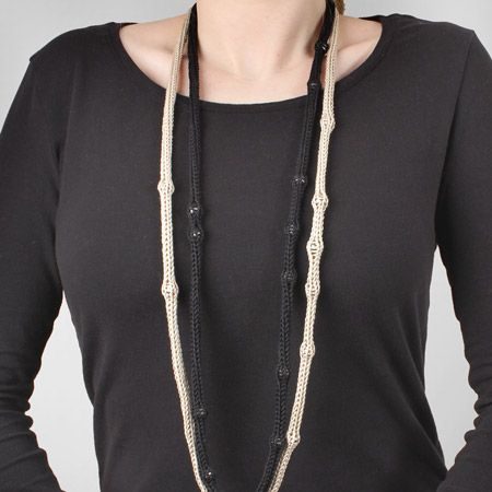 French knit necklace / Collier au tricotin | DeSerres