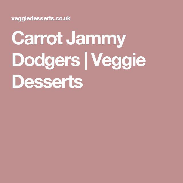 Carrot Jammy Dodgers | Veggie Desserts