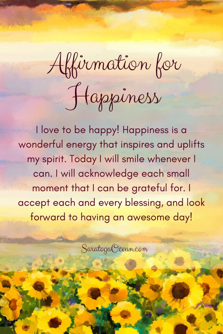 Here's a positive affirmation you can use to help …