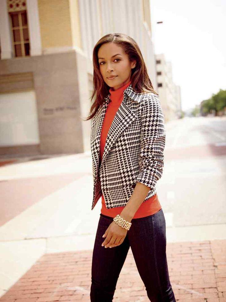 Liz Claiborne houndstooth jacket