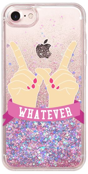 Casetify iPhone 7 Glitter Case - Whatever by Confetti #Casetify http://amzn.to/2rsh3Be