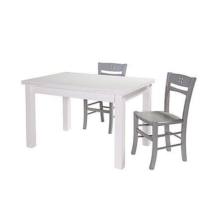 Tavolo Rettangolare Allungabile Gioele Moderno colore Bianco cm 80x140/200