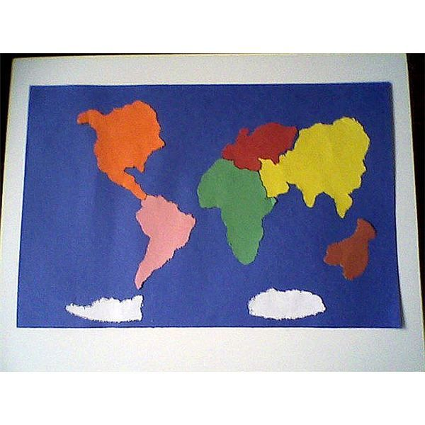 The Continents Pinpricking Map Spanish Pinterest