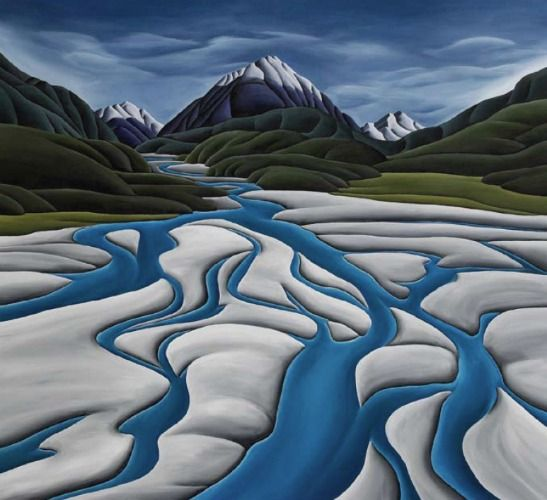 River's Reach (Large) Canvas Print by Diana Adams