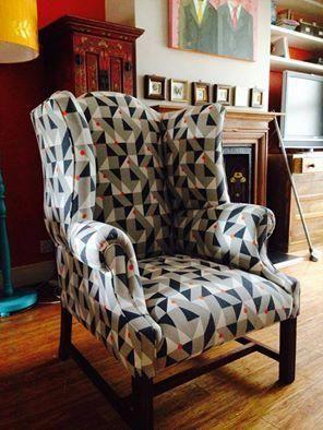 Vintage stoel in een nieuw jasje van kirkby design for P a furniture kirkby