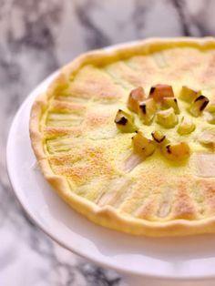 Tarte à la rhubarbe rapide - Recette de cuisine Marmiton : une recette
