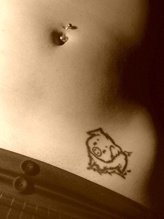 pig tattoo by ~officer-nice on deviantART - cute-tattoo