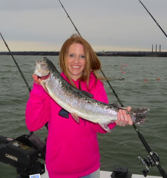 Spring steelhead erie pa clement 39 s lake erie cottages for Steelhead fishing pa