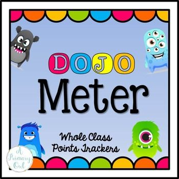 This is working great for my class this year! We are working on earning points for whole class rewards so I made this Dojo Meter. I wanted it to…