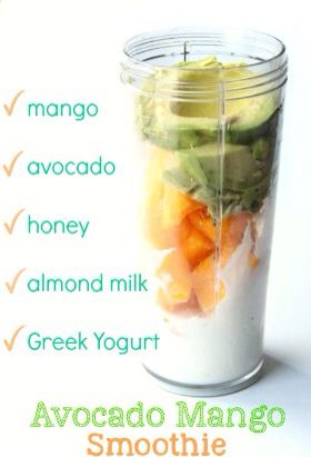 Avacado & Mango smoothie