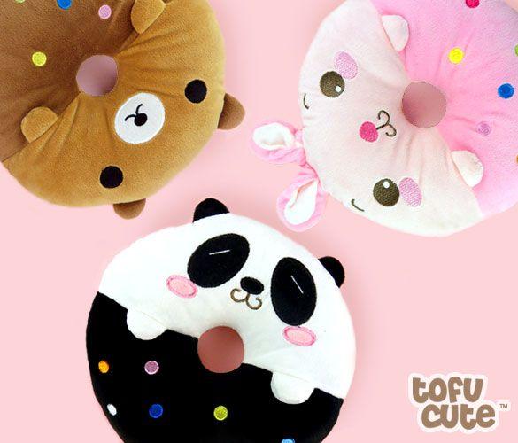 Kawaii Animal Doughnut Plush Mini Cushion at Tofu Cute