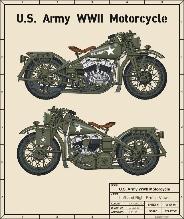 Army WWII Harley Davidson
