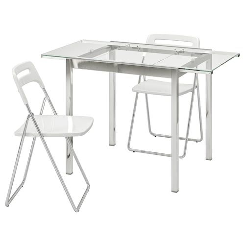 Glass Dining Table Ikea In 2020 With Images Glass Dining Table