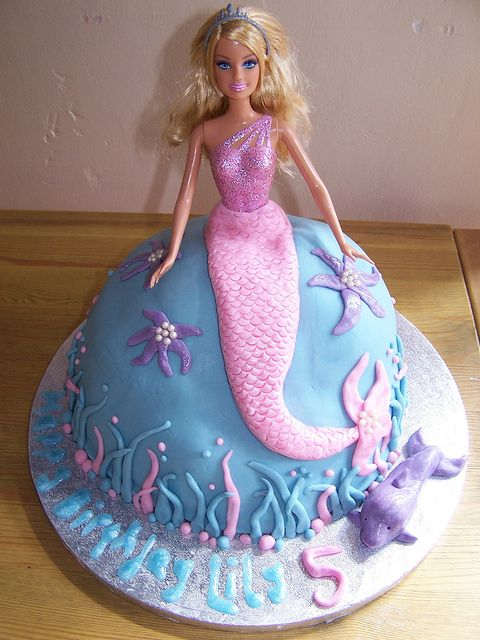 Barbie Mermaid Birthday Party cake....Diana, can you work your magic?