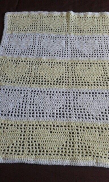 I Made This Crotchet Baby Blanket In Lemon Amp White I
