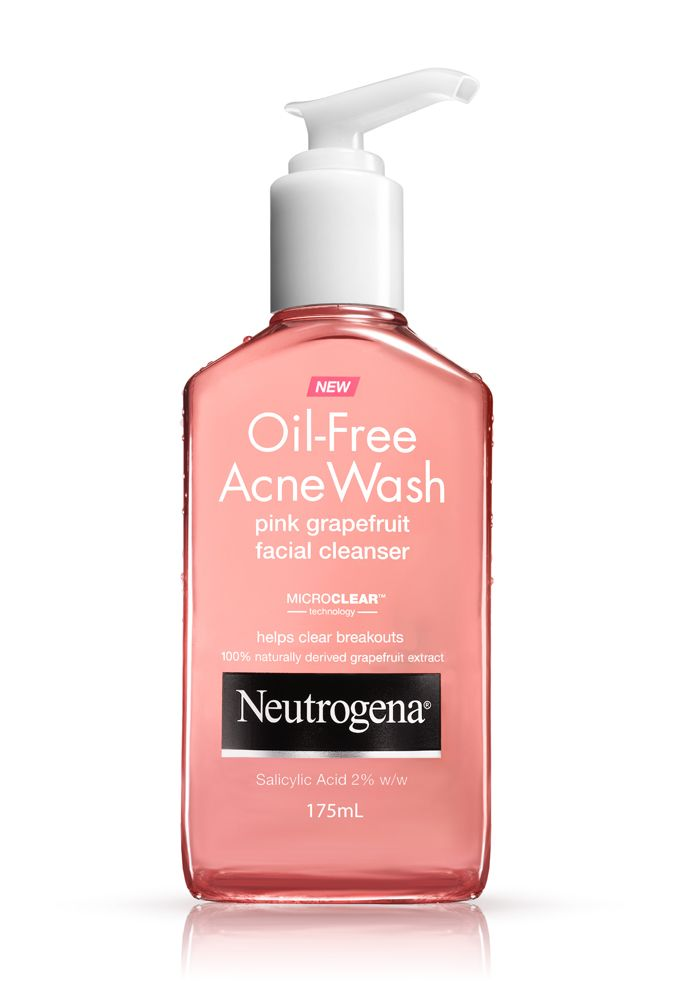 Use a facial cleanser with salicylic acid in it to help combat breakouts before they start. // Grapefruit Cleanser by Neutrogena