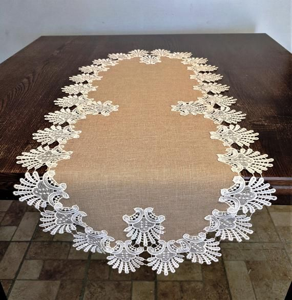 Table Runner Dresser Scarf Table Cloth Place Mat Or Doily Etsy In 2020 Table Cloth Table Runners Placemats