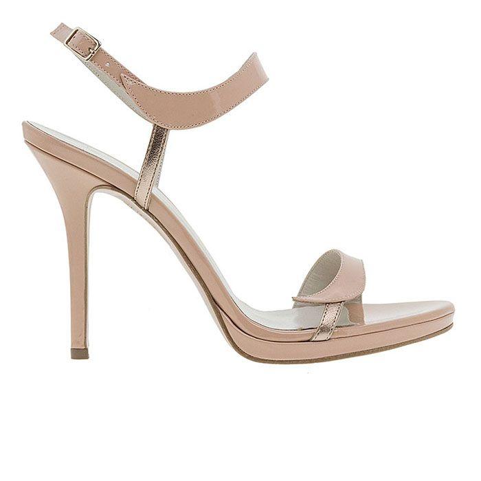 1008B33-NUDE PATENT www.mourtzi.com #sandals #heels #mourtzi #greekdesigners