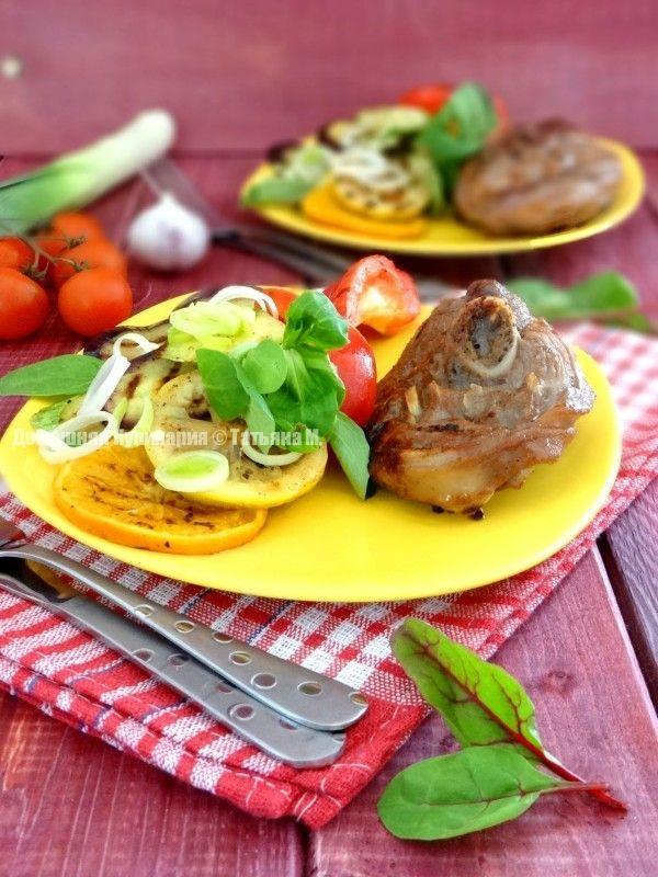 Овощи с индейкой гриль