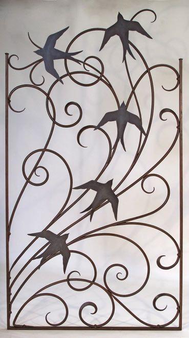 Wind and birds garden gate - Shawn Lovell metalworks
