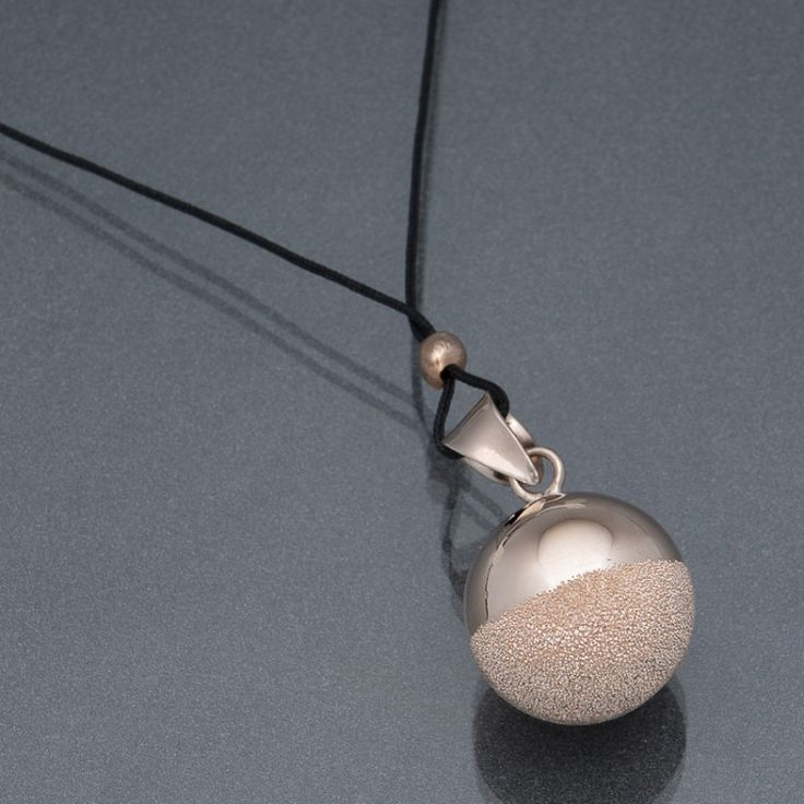 Pregnancy bola - sphere pink gold plated for baby : Mon Premier Doudou baby's shop, Silver necklaces
