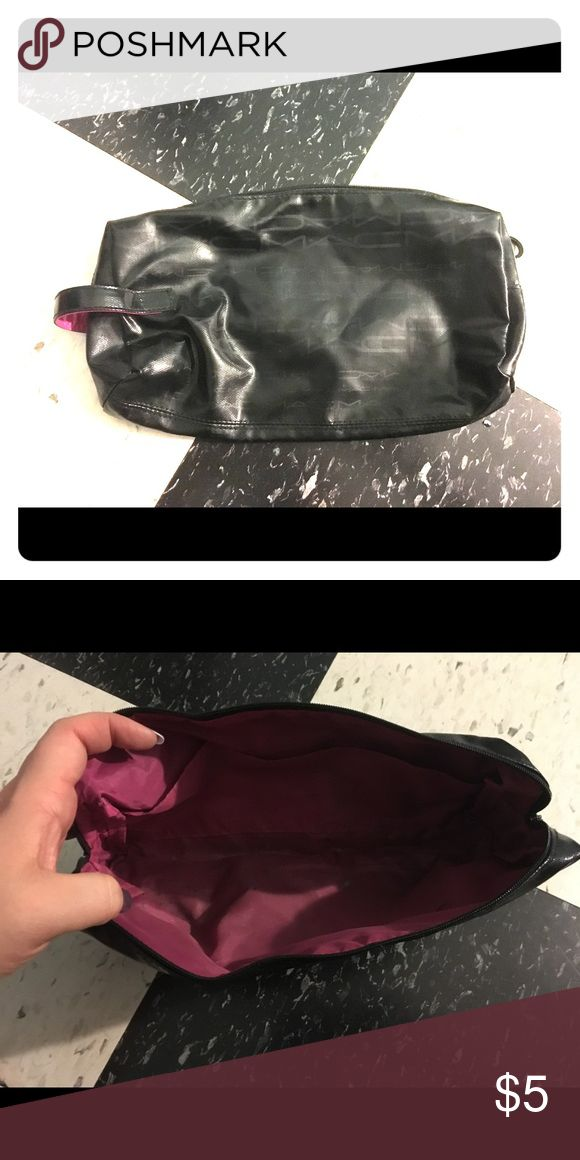 MAC makeup bag MAC makeup back black with zip inside has some makeup staining MAC Cosmetics Bags Cosmetic Bags & Cases