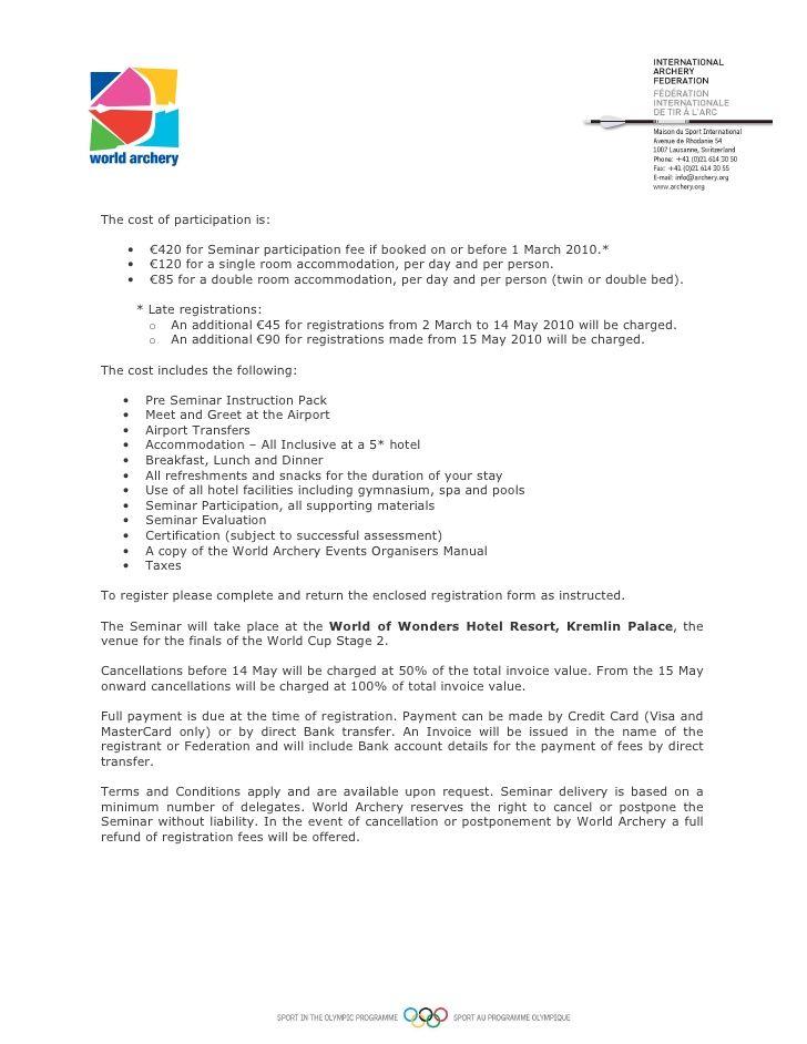 1222 Org Seminar Invitation Letter Corporate Event Planning