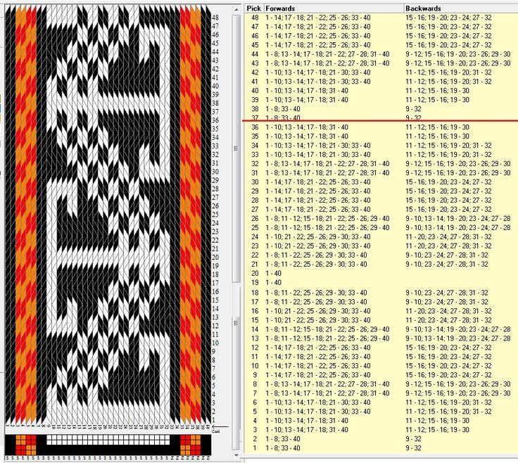 Motivo persa 40 tarjetas, 4 colores, repite cada 36 movimientos // persa1 diseñado en GTT༺❁