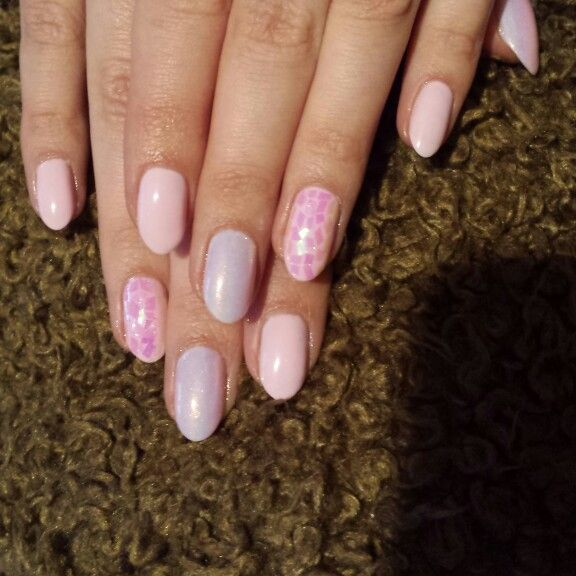 Semilac,glassnail effect,mermaid effect
