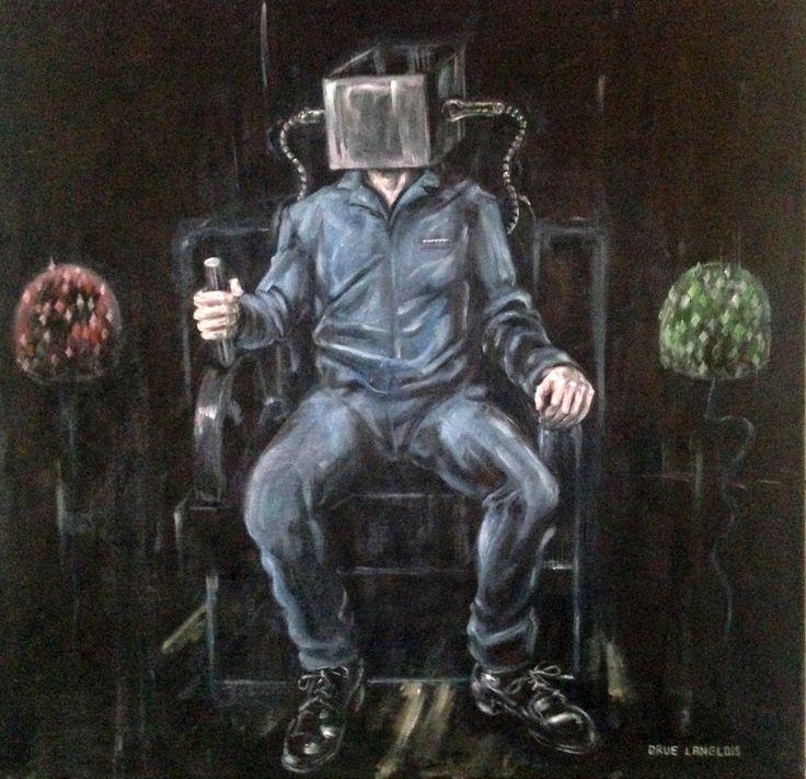 """Juicy"" (c) 2017, Drue Langlois. Oil paint on canvas. 23.5 x 23.5 inches."