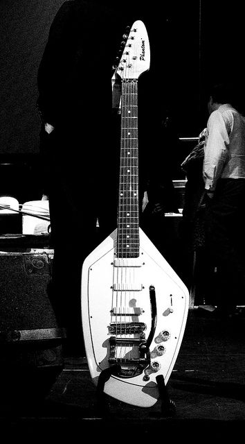 Ian Curtis's Phantom Vox Guitar by Colour Blind Bob, via Flickr