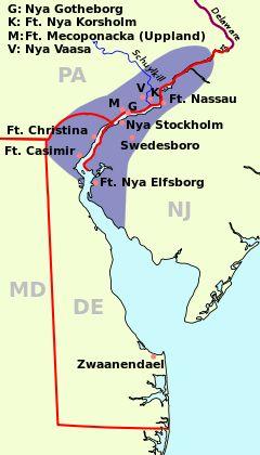 Kolonin Nya Sverige 1638–1655.
