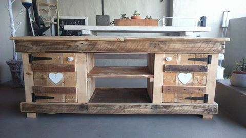 rustic tv cabinet made with love